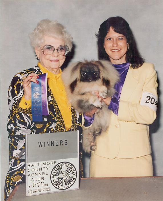 Picture with Valerie and judge at show after winning